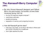 the atanasoff berry computer abc