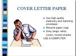 cover letter paper