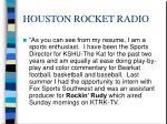 houston rocket radio