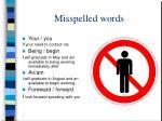 misspelled words