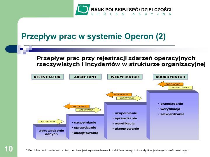 Przepływ prac w systemie Operon (2)