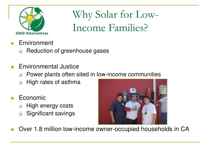 Why Solar for Low-Income Families?