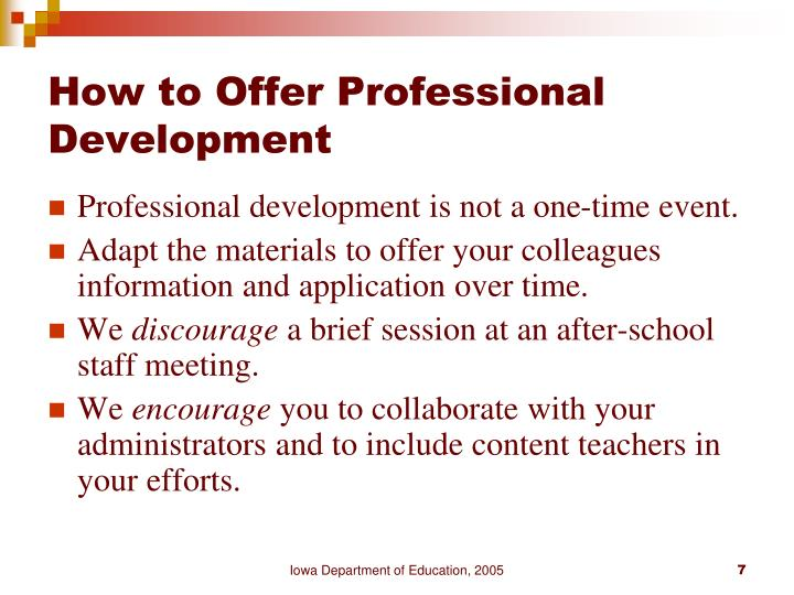 How to Offer Professional Development