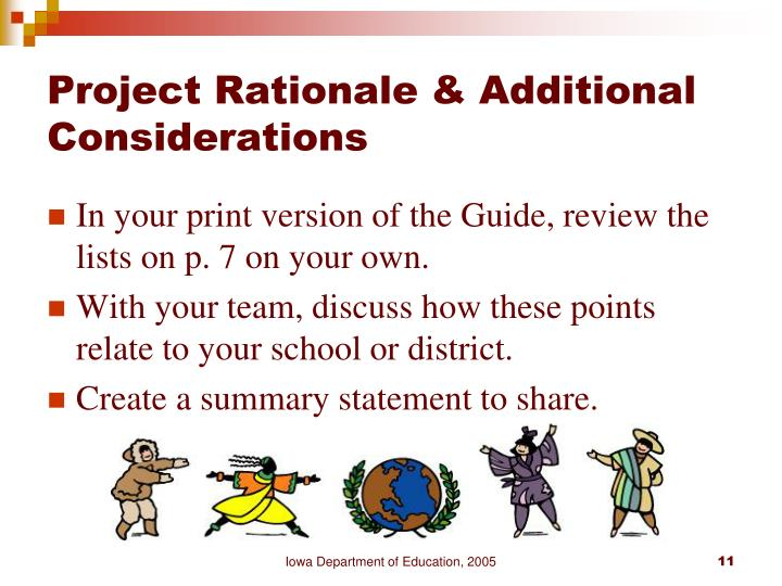 Project Rationale & Additional Considerations
