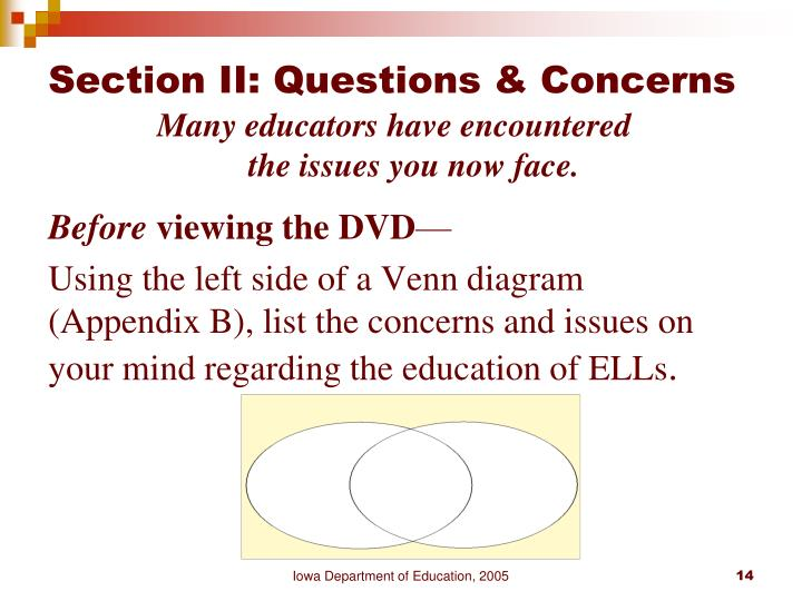 Section II: Questions & Concerns
