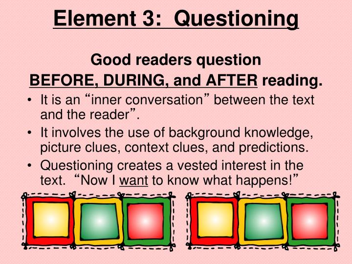 Element 3:  Questioning