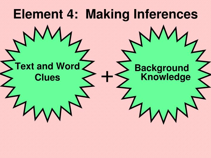 Element 4:  Making Inferences