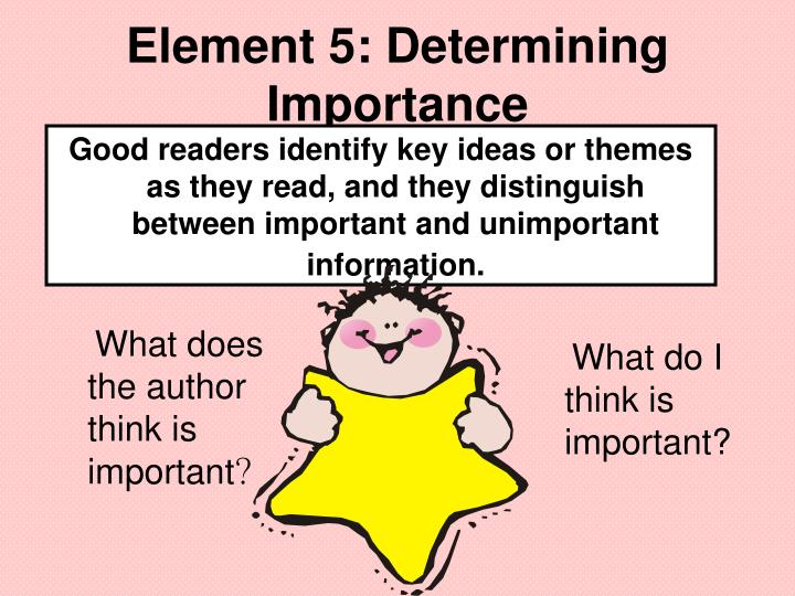 Element 5: Determining Importance
