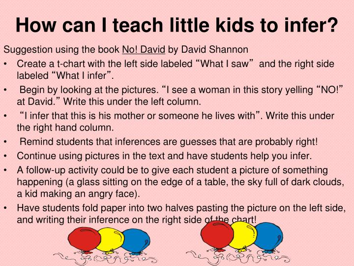 How can I teach little kids to infer?