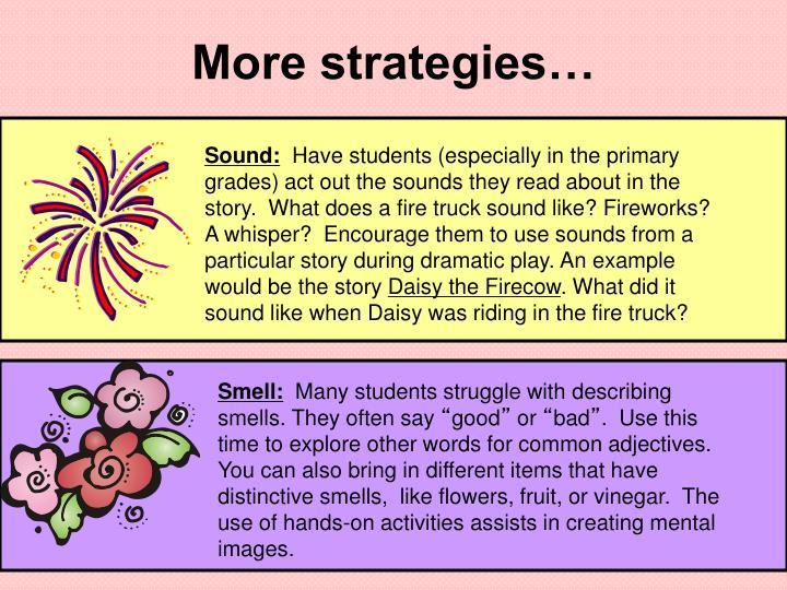 More strategies…