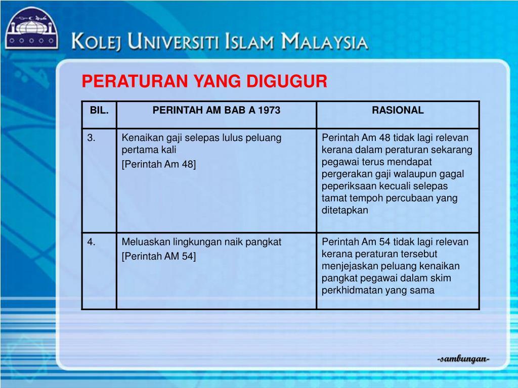 Ppt Peraturan Pegawai Awam Pelantikan Kenaikan Pangkat Penamatan Perkhidmatan 2005 Powerpoint Presentation Id 4720313