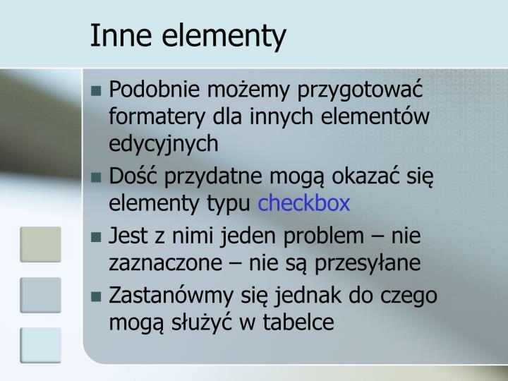 Inne elementy