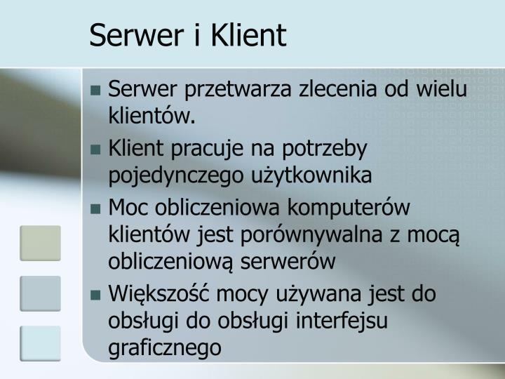 Serwer i klient