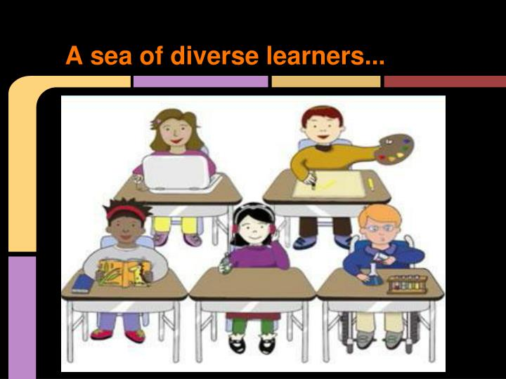 A sea of diverse learners...