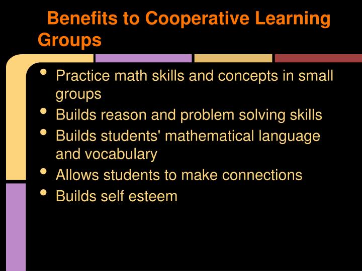 Benefits to Cooperative Learning Groups