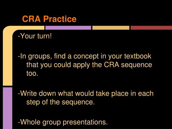 CRA Practice