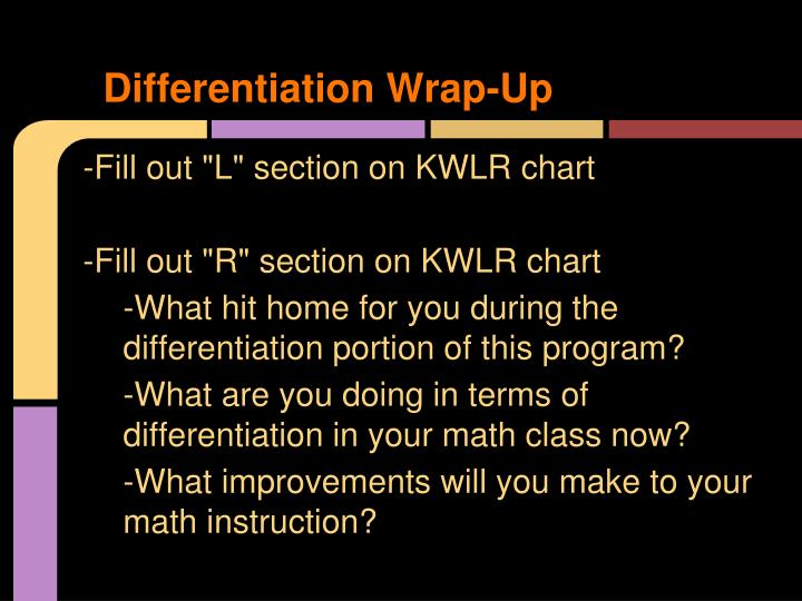 Differentiation Wrap-Up
