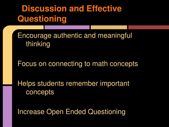 Discussion and Effective Questioning