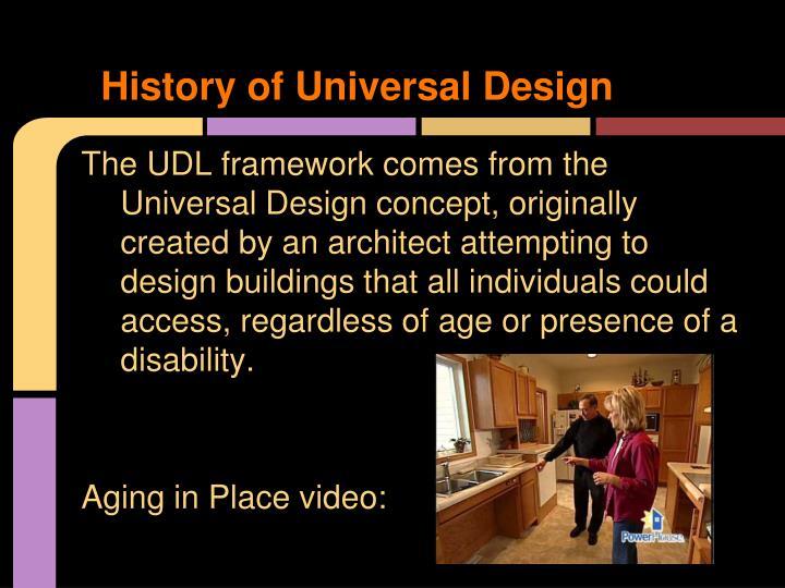 History of Universal Design