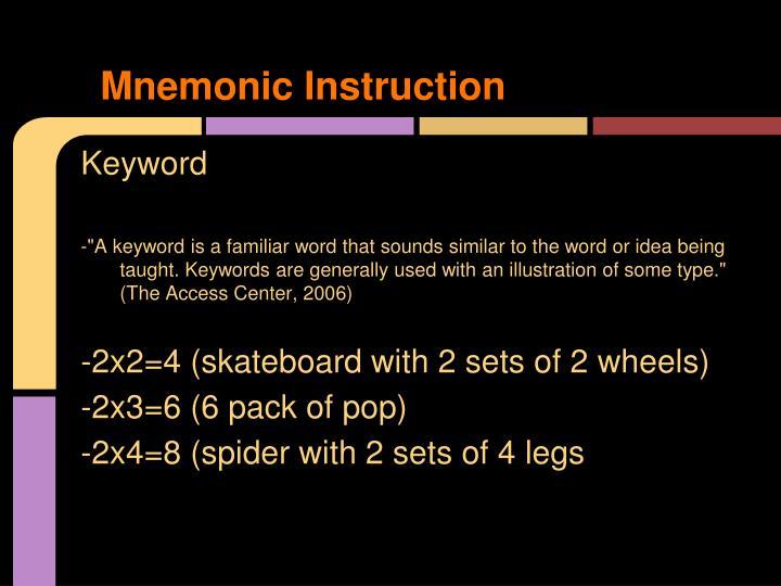 Mnemonic Instruction