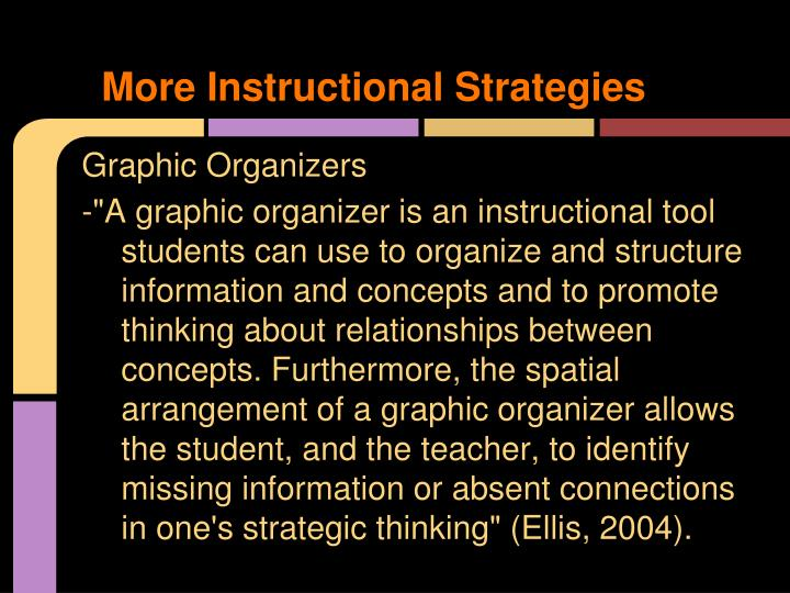 More Instructional Strategies