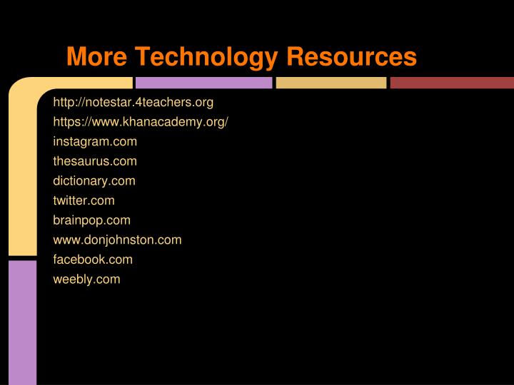 More Technology Resources
