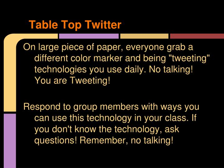 Table Top Twitter