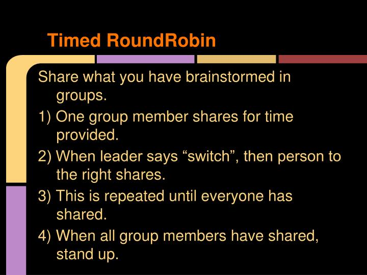 Timed RoundRobin