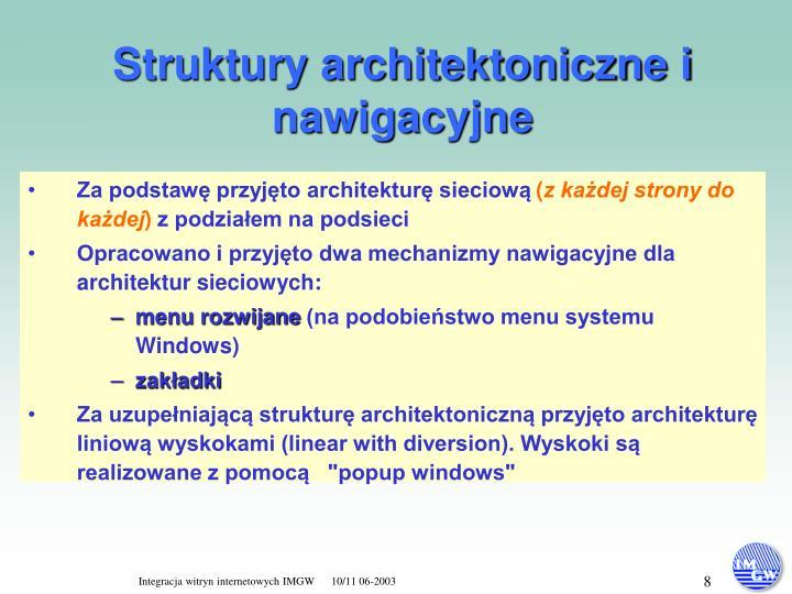 Struktury architektoniczne i nawigacyjne