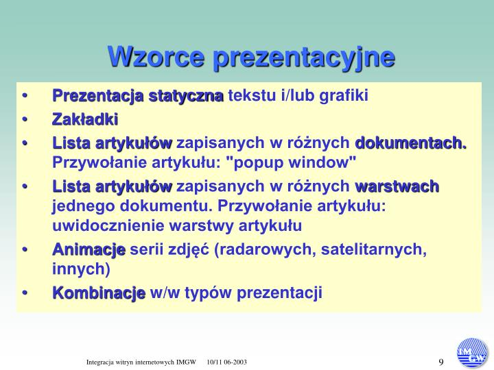 Wzorce prezentacyjne