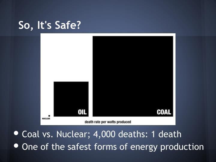So, It's Safe?