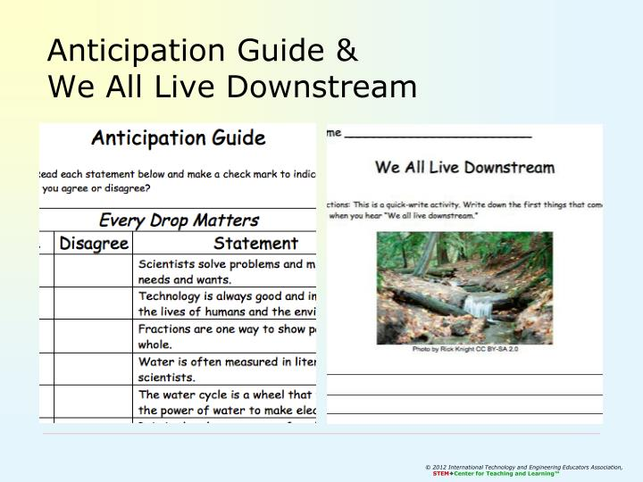 Anticipation Guide &