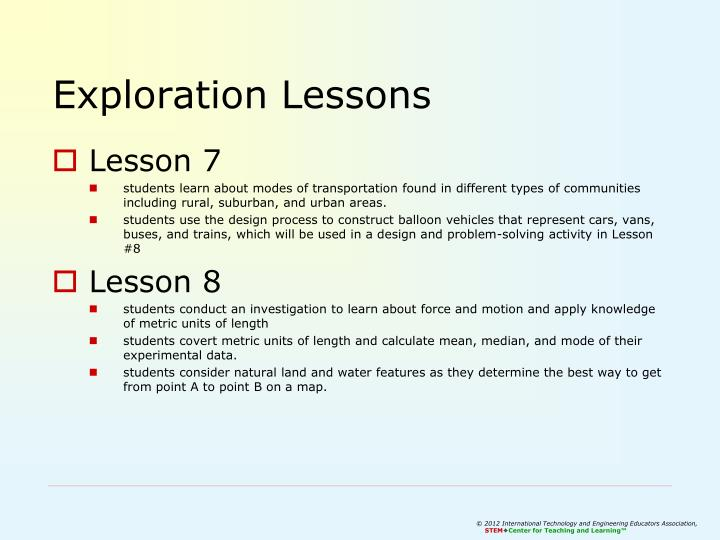 Exploration Lessons