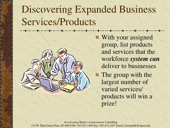 Discovering Expanded Business Services/Products