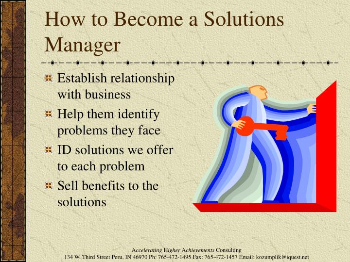 How to Become a Solutions Manager