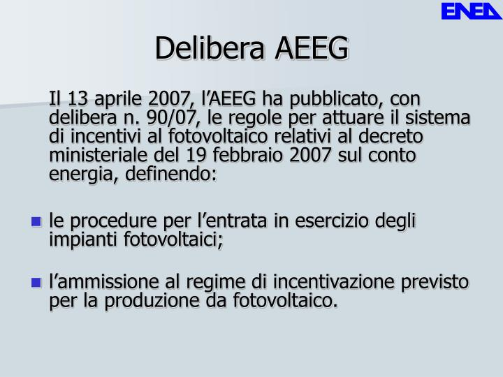 Delibera AEEG