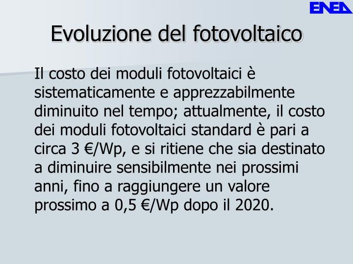Evoluzione del fotovoltaico
