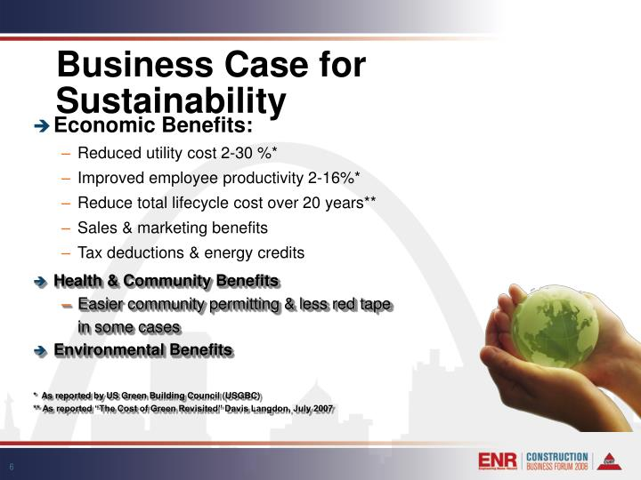 Business Case for Sustainability