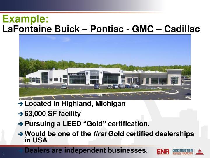 Example lafontaine buick pontiac gmc cadillac
