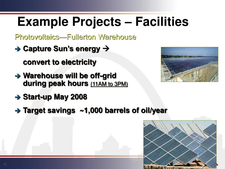 Example Projects – Facilities
