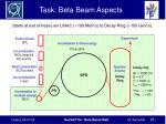 task beta beam aspects