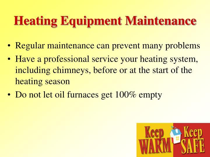 Heating Equipment Maintenance