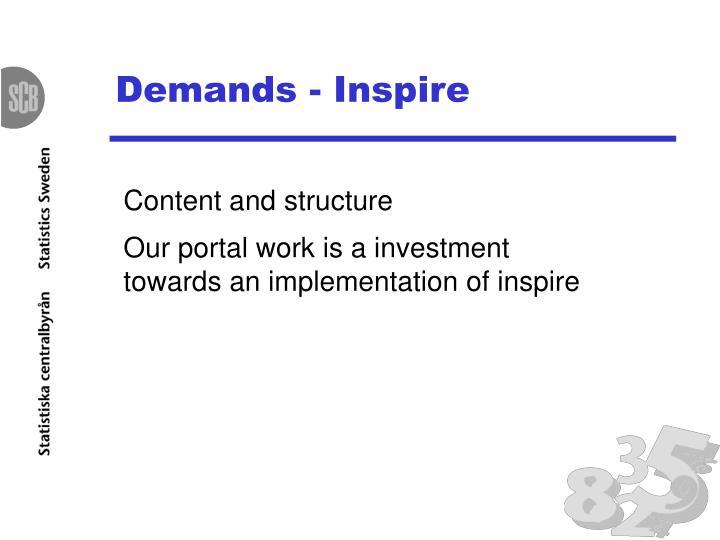 Demands - Inspire