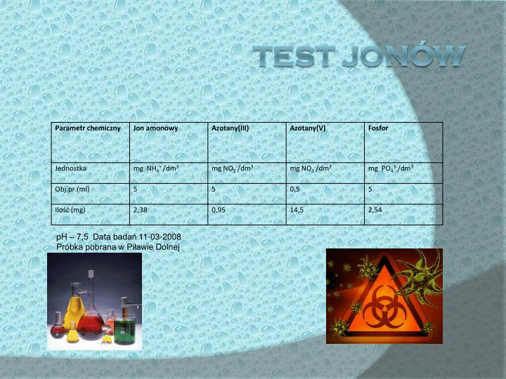 TEST JONÓW
