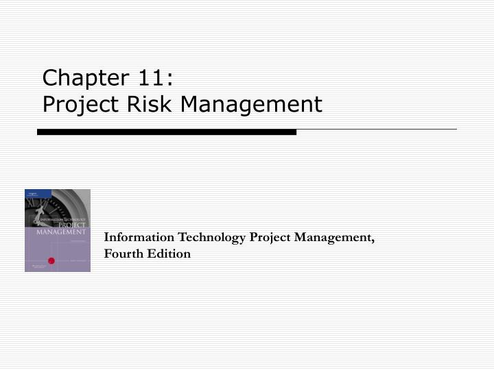 chapter 11 project risk management n.