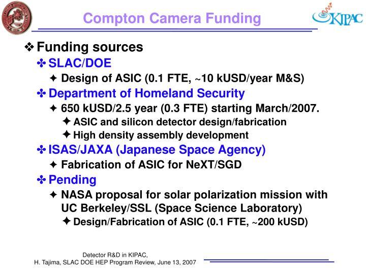 Compton Camera Funding