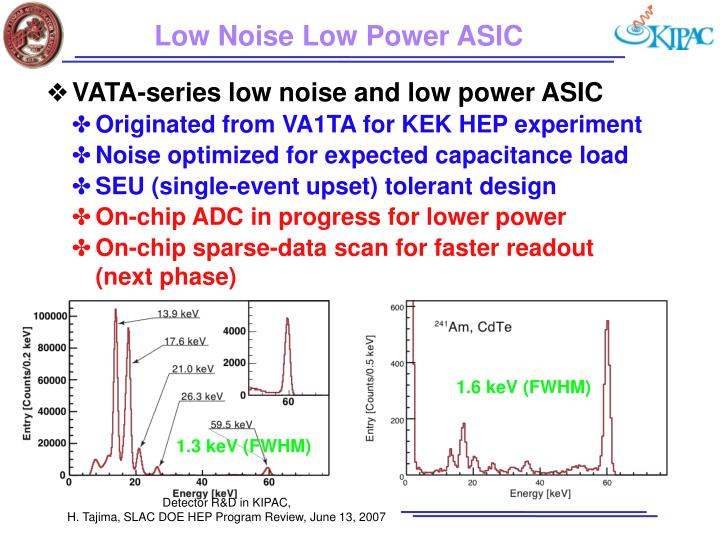 Low Noise Low Power ASIC
