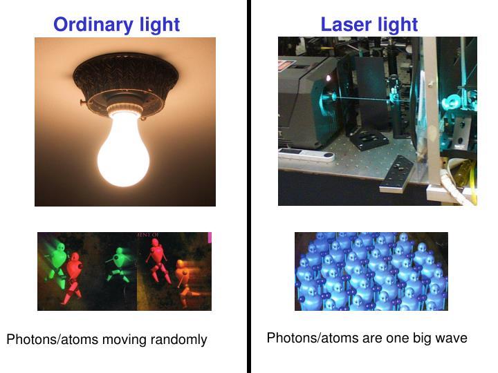 Laser beam and light bulb