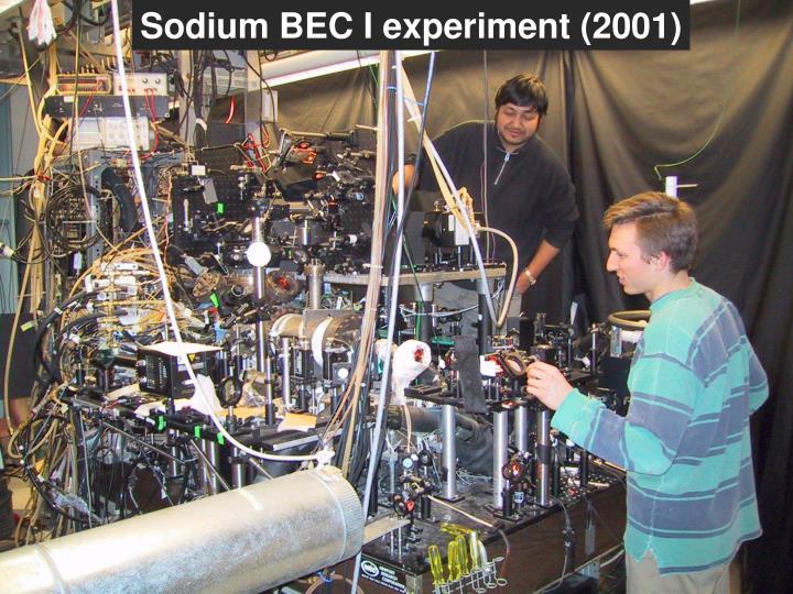 Sodium BEC I experiment (2001)
