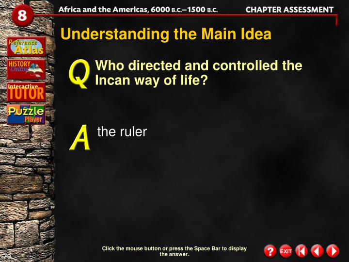 Understanding the Main Idea